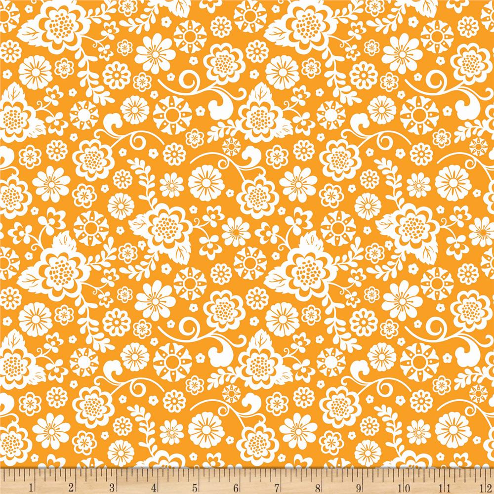 Riley Blake Fancy Free Fancy Floral Orange