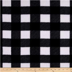 Buffalo Plaid Fleece Black/Gray/White