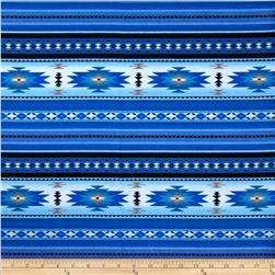 Tucson Flannel Stripe Blue Fabric