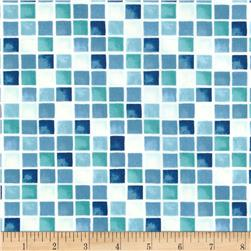 Moda Seascapes Sea Glass Mosaic Ocean Blue