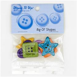 Dress It Up Embellishment Buttons  Big Ol Shapes