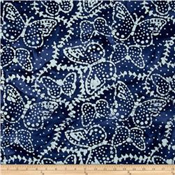 Indian Batik Sarasota Butterfly Navy