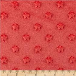 Minky Star Dot Salmon Pink