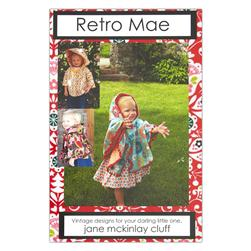 Retro Mae Little Red Girls Jacket Pattern Booklet