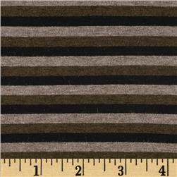 Designer Stretch Rayon Jersey Knit Stripes Black/Brown Fabric