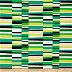 Kaufman Geo Pop Canvas Home Decor Hash Stripe Emerald