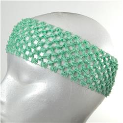 "2 3/4"" Crochet Headband Mint Green"
