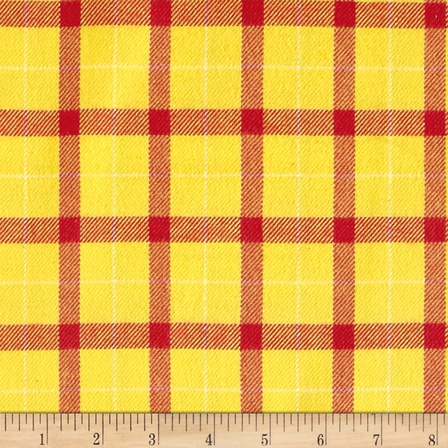 primo plaids color crush flannel big block yellow red. Black Bedroom Furniture Sets. Home Design Ideas