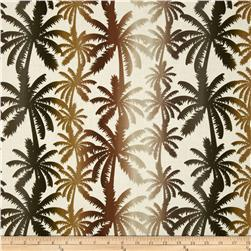 Kanvas Tropical Rainforest Rainbow Palm Cream Fabric