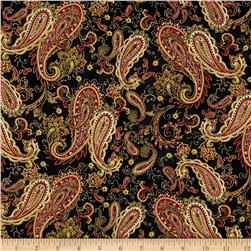 Christmas Splendor Paisley Black