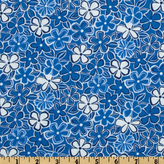 A E Nathan Medium Floral Blue