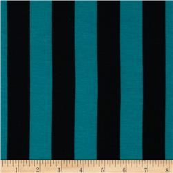 Soft Jersey Knit Mid Stripe Jade/Black