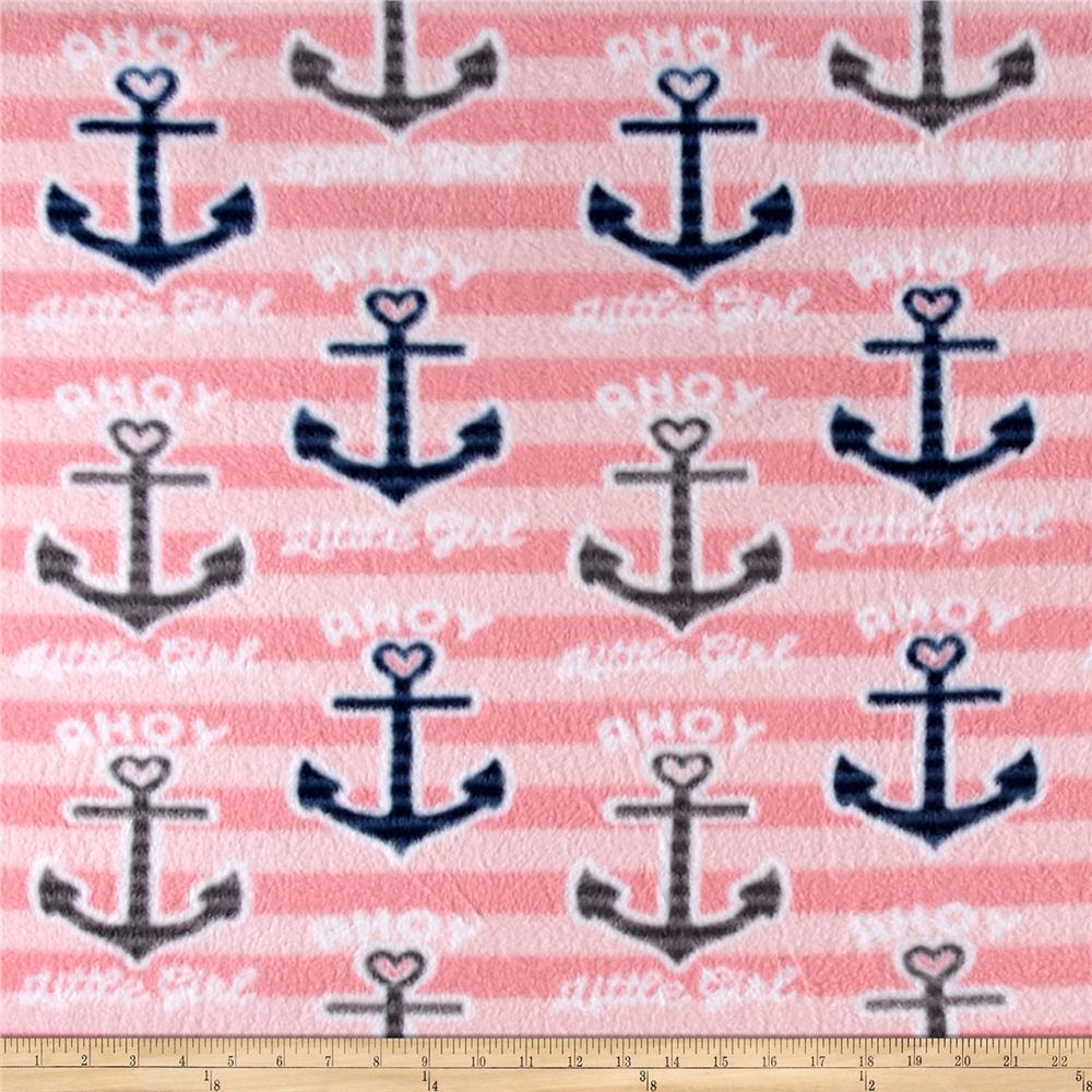 Fleece Print Ahoy Anchors