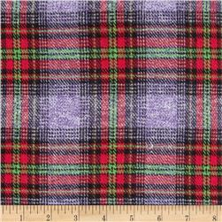 6 oz. Flannel Plaid Purple/Red