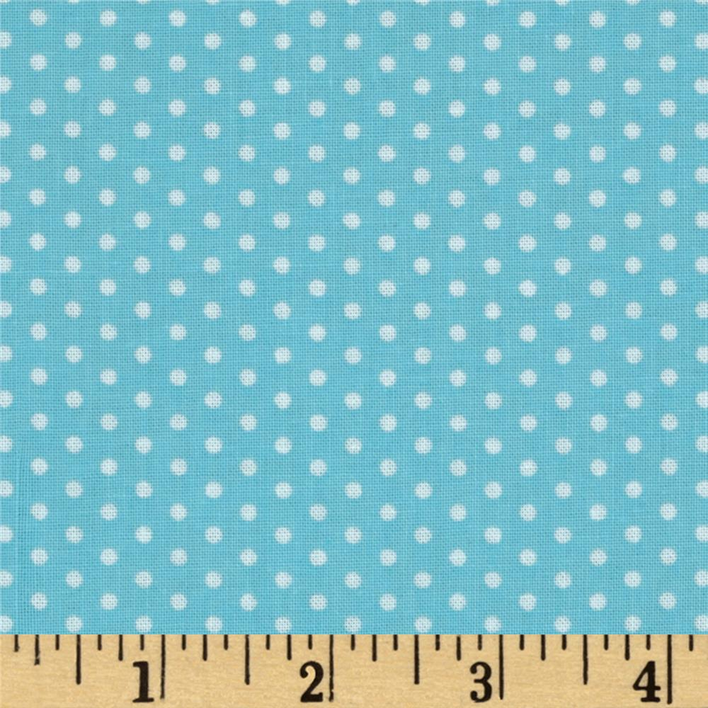 Kaufman Spot On Pindot Aqua