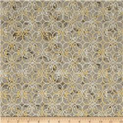 Kaufman Winter White Metallic Medallion Winter