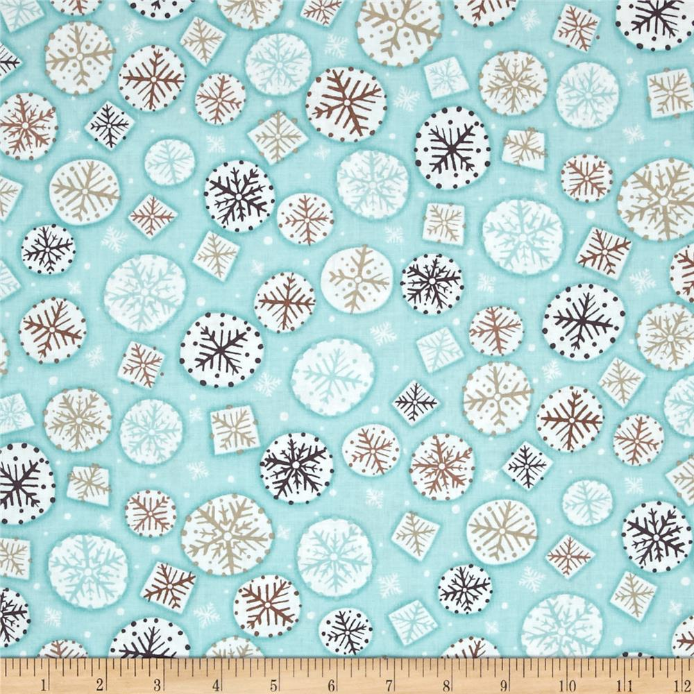 Kanvas Shades of Winter Winter Flurries Aqua