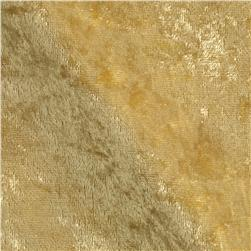 Stretch Panne Velvet Velour Soft Gold Fabric