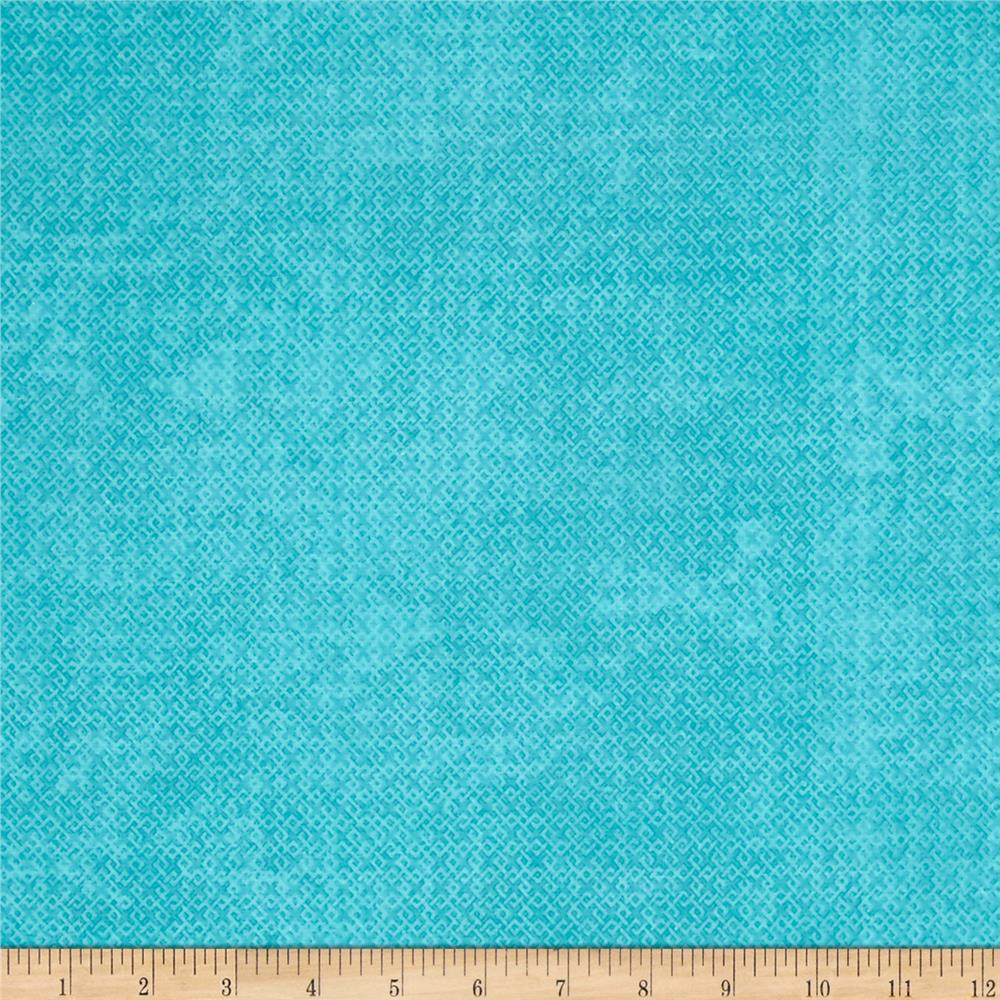 Essential Criss Cross 60'' Flannel Turquoise Fabric