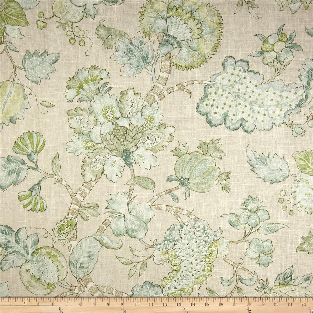 Braemore Momento Linen Blend Jade Fabric By The Yard