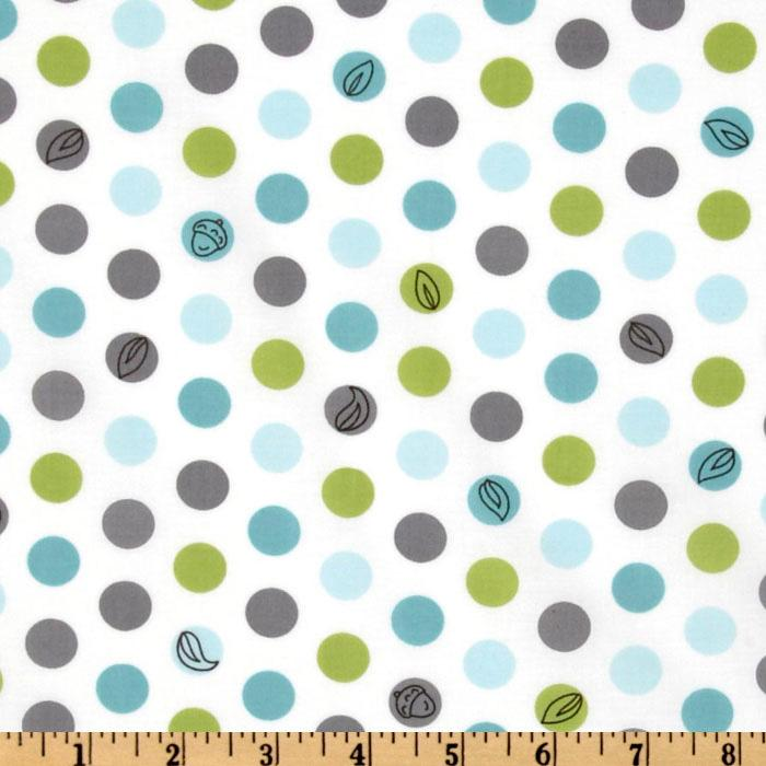 Michael miller backyard baby lotsa dots white discount for Cheap baby fabric
