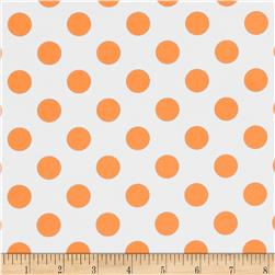 Riley Blake Laminated Cotton Dots Neon Orange