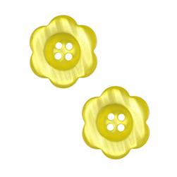 "Riley Blake Sew Together 2"" Flower Button Yellow"