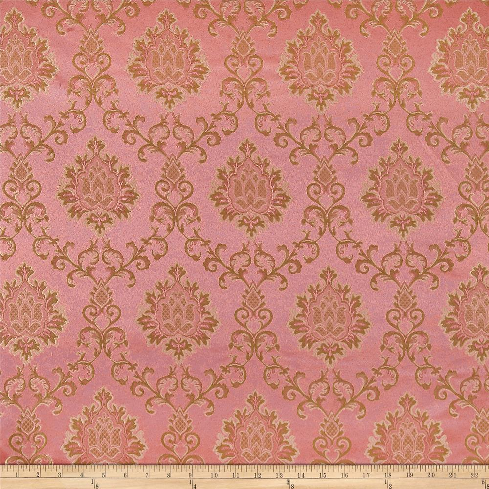 Europatex damask jacquard mauve discount designer fabric for Jacquard fabric