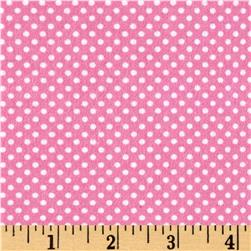 Cuddle Flannel Dots Pink