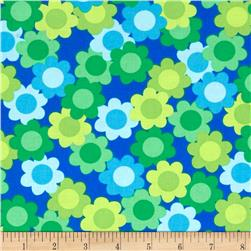Dots Right Daisy Collage Blue