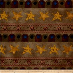 Folk Art Flannels Border Stripe Tobacco