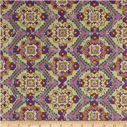 Faux Eyelet Tile Purple/Lavender/Green