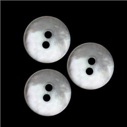 Genuine Shell Button 5/8'' Smoked Agoya Smoke