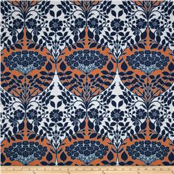 Joel Dewberry Botanique Leafy Damask Apricot Fabric