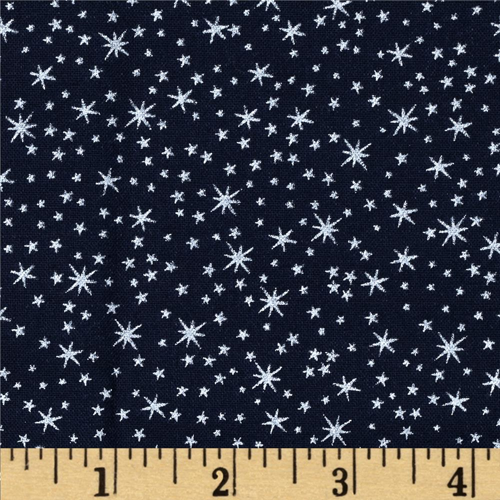 Holiday Metals Metallic Stars Navy