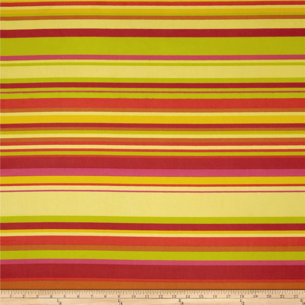Chiffon Stripes Light Yellow/Lime