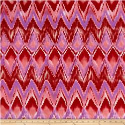 Stretch ITY Knit Zig Zag Waves Pink