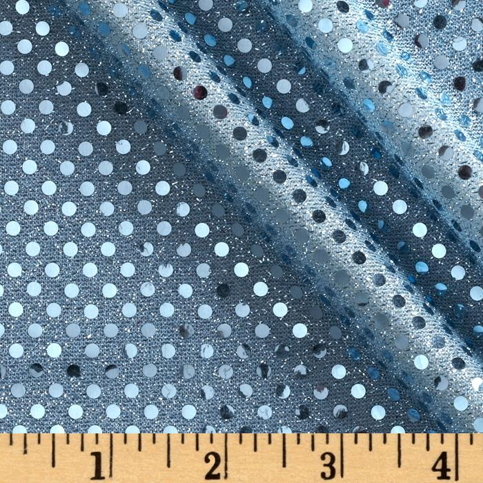 Dazzle Metallic Sequin Knit Light Blue