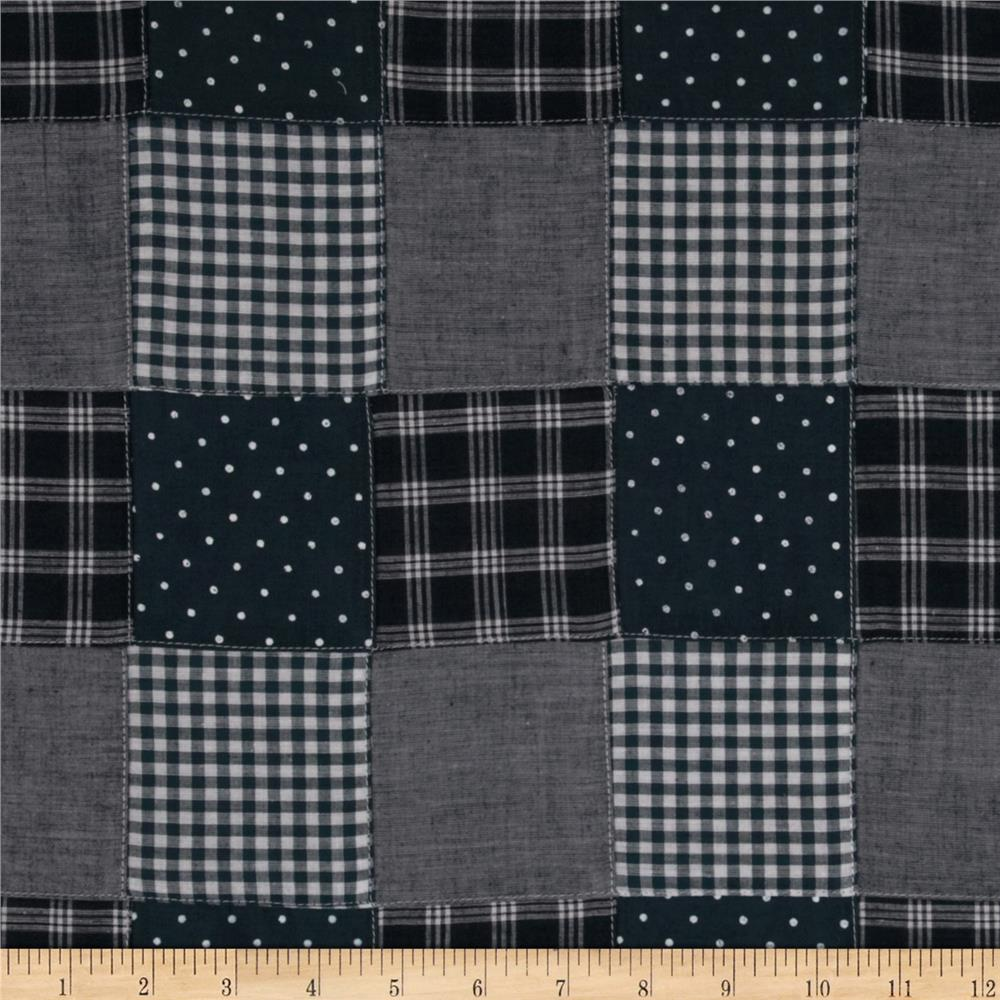 Kaufman Nantucket Patchwork Plaid Blue