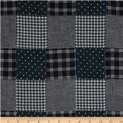 Kaufman Nantucket Patchwork Plaid Blue Fabric