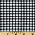 Telio Morocco Blues Stretch Cotton Shirting Gingham Print Black/White