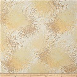 Oriental Traditions Metallic Flower Burst Natural Fabric