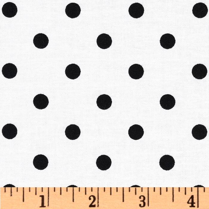 Classic Dots & Stripes Medium Dots White/Black