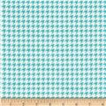 Kimberbell Little One Flannel Too! Houndstooth White/Teal