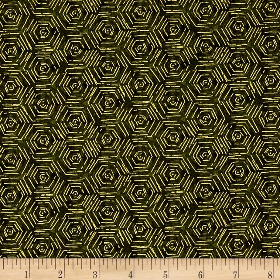 Fall's Canvas Hexagons Forest Green