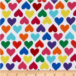 Kaufman Laguna Stretch Jersey Knit Heart Multi