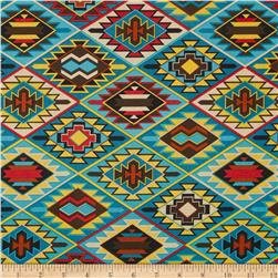Mesa Verde Indian Blanket Turquoise Fabric