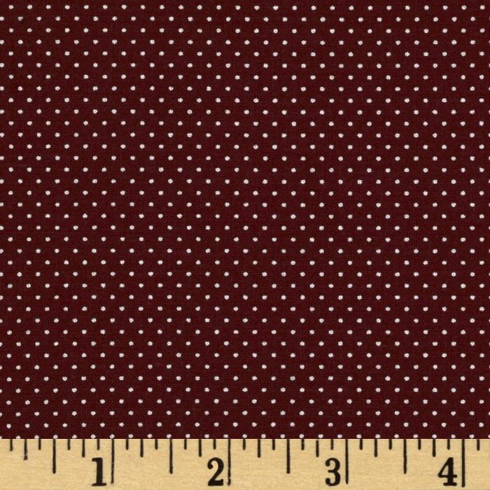 Pin Dot  Burgundy
