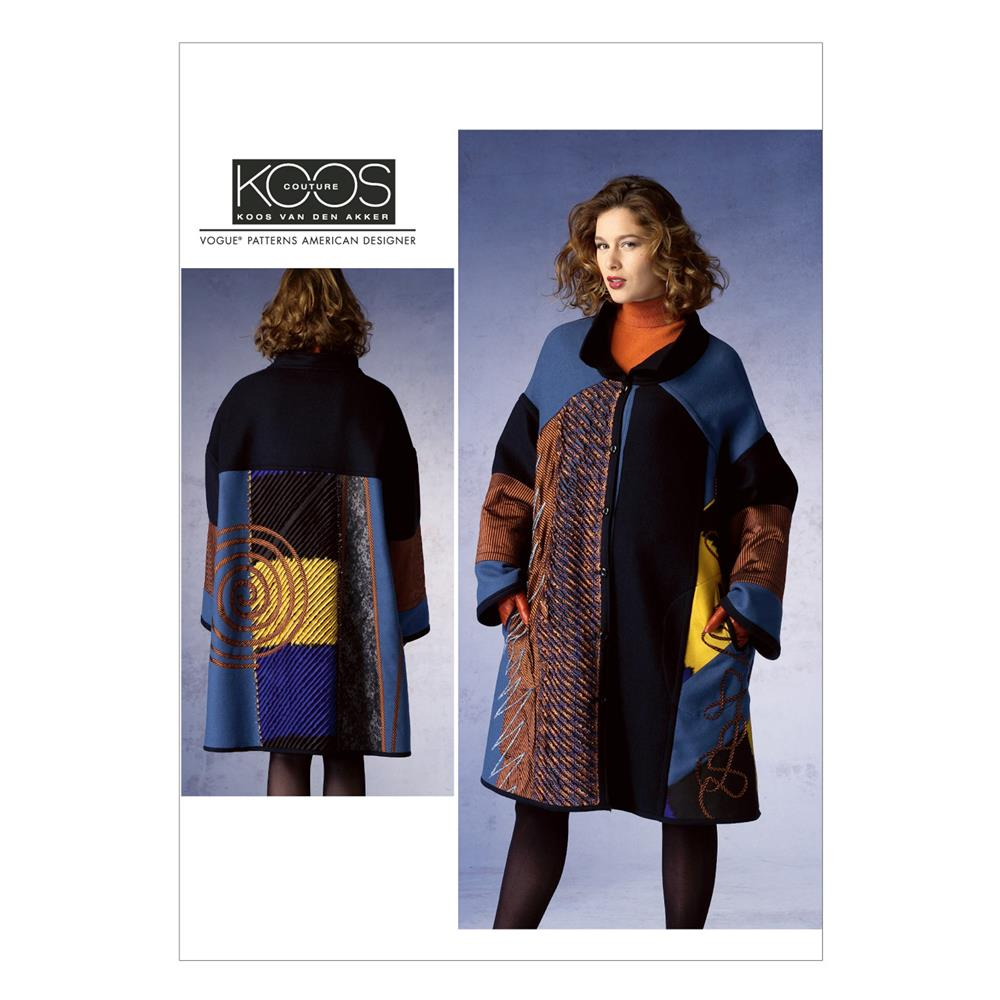 Vogue Misses' Coat Pattern V1377 Size 0Y0