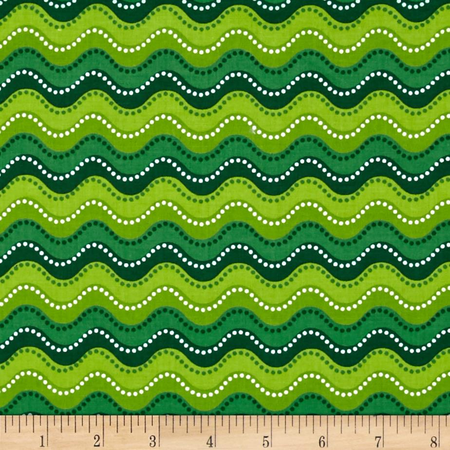 Holly Jollies Wavy Stripe Green